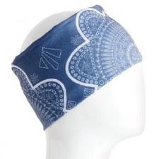 Infinity Bandana- Blue Tones Geometric