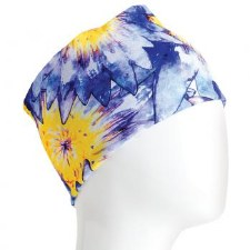 Infinity Bandana- Blue & Yellow Flowers