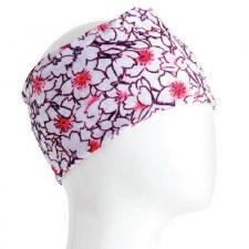Infinity Bandana- Floral White & Pink