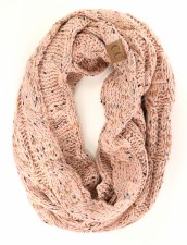 CC Knit Infinity Scarf- India Pink Confetti