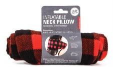 Kikkerland Infltable Neck Pillow- Buffalo Plaid