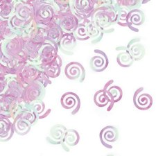 Party Confetti- Iridescent Swirls