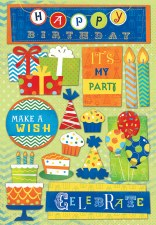 Cardstock Stickers- Its My Party