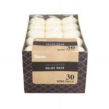 Unscented Votive Candles, 30ct- Ivory