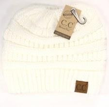 CC Knit Beanie Tail- Ivory