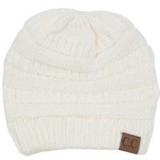 CC Knit Beanie- Ivory
