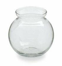 "4"" Round Glass Ivy Bowl"