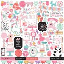 It's Your Birthday Girl 12x12 Sticker Sheet
