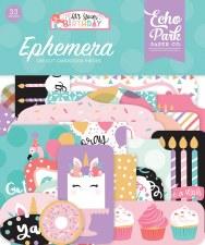 It's Your Birthday Girl Ephemera Die Cuts