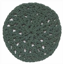 Knotted Cotton Trivet- Jade