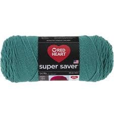 Red Heart Super Saver Yarn- Jade
