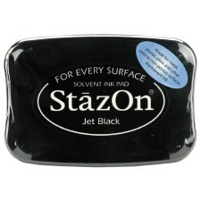 Staz On Solvent Ink Pad- Jet Black