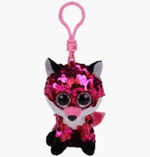 Beanie Flippable Sequins Collecion, Clip- Jewel the Fox