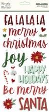 Jingle All the Way Stickers- Foam Phrases