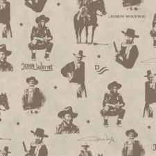 John Wayne Bolted Fabric- Silhouettes, Tan