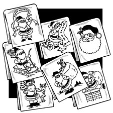 Aunt Martha's Iron On Transfers- Jolly Ole Santa #3859