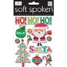 MAMBI Soft Spoken Stickers- Christmas- Jolly Santa