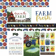 Down on the Farm 12x12 Paper- Journaling Cards