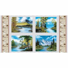 Nature & Wildlife Fabric Panel- Joy of Painting Pillow Panel
