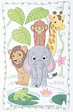 Crib Quilt Top- Jungle