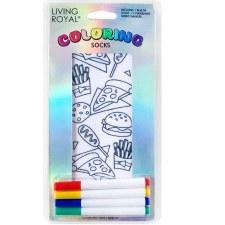 Coloring Socks- Junk Food