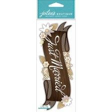 Jolee's Wedding Dimensional Title Stickers- Just Married
