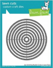 Lawn Fawn Stackable Circles Craft Dies- Just Stitching Double Circles