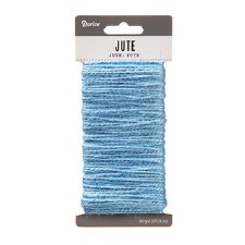 Jute Cord, 30yds- Light Blue