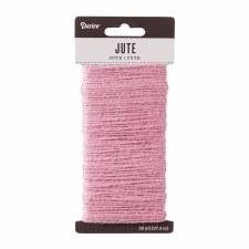 Jute Cord, 30yds- Pink