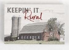 Wood Block Sign, Small- Keepin' It Rural