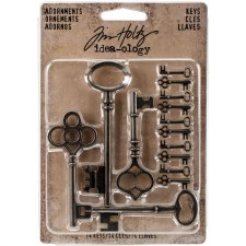 Tim Holtz Metal Embellishments- Keys Adornments