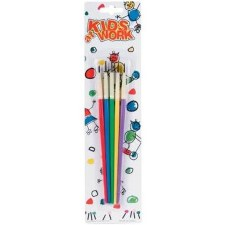 Kids At Work Paint Brush Pack- 5ct
