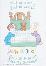 Crib Quilt Top- Kiss Me Goodnight