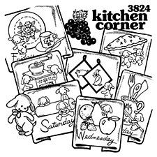 Aunt Martha's Iron On Transfers- Kitchen Corner #3824