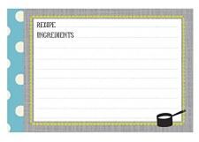 CR Gibson Kitchen Gear Recipe Cards