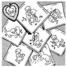 Aunt Martha's Iron On Transfers- Kittens for Tea Towels #3606
