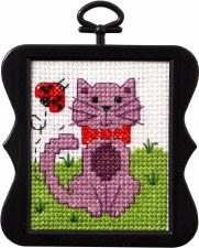 Beginner Minis Counted Cross-Stitch Kit- Kitty