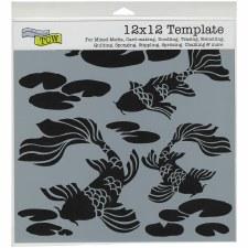 12x12 Stencil- Koi Pond