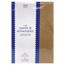 Love, Nicole A2 Cards & Envelopes Pack, 25ct- Kraft