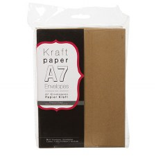 Core'dinations A7 Envelope Pack, 50ct- Kraft