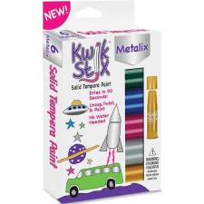 Kwik Stix Solid Tempera Paint, 6pk- Metallic