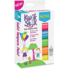 Kwik Stix Solid Tempera Paint, 6pk- Neons