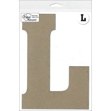 "8"" Chipboard Letter- L"