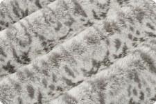 "Lace Cuddle Fleece, 60""- Graphite"