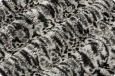 """Lace Cuddle Fleece, 60""""- Salt & Pepper"""