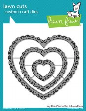 Lawn Fawn Stackable Hearts Craft Dies- Lacy Hearts