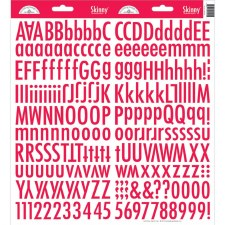 Skinny Alphabet Stickers- Ladybug