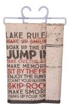 Dish Towel- Lake Rules