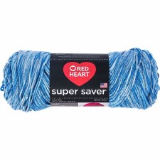 Red Heart Super Saver Yarn- Lapis