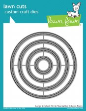 Lawn Fawn Stackable Circles Craft Dies- Stitched Large
